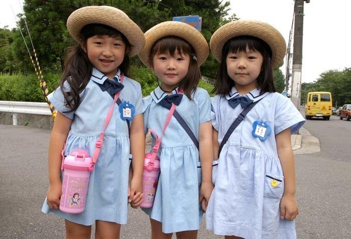 Японские девочки из младшей школы( сё:гакко:) Япония, Школа, Девочка, Кавай