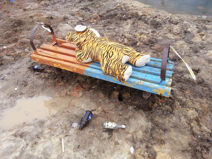 Тяжелая жизнь плюшевого тигра в России...