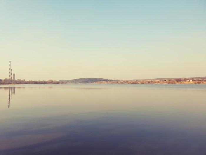 Весна на водохранилище. Весна, Тульская область, Закат, Природа, Вода, Длиннопост