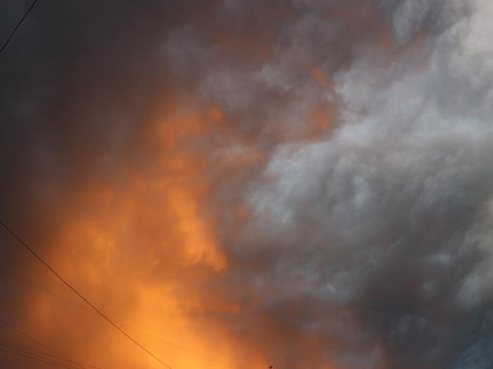 Небо после дождя Облака, Небо, Красивое, После дождя, Моё, Длиннопост
