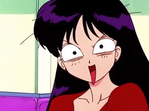 Почему Рэй такая разная в аниме и манге? Аниме, Sailor Mars, Длиннопост, Рей Хино, Sailor Moon, Pretty Soldier Sailor Moon, Япония, Гифка, Видео