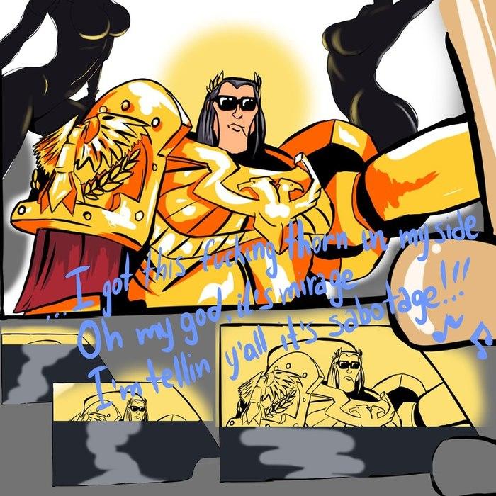 Warhammer vs star wars by Alex Zakia Alex Zakia, Warhammer 40k, Star wars, Фантастика, Crossover, Император, Комиксы, Длиннопост