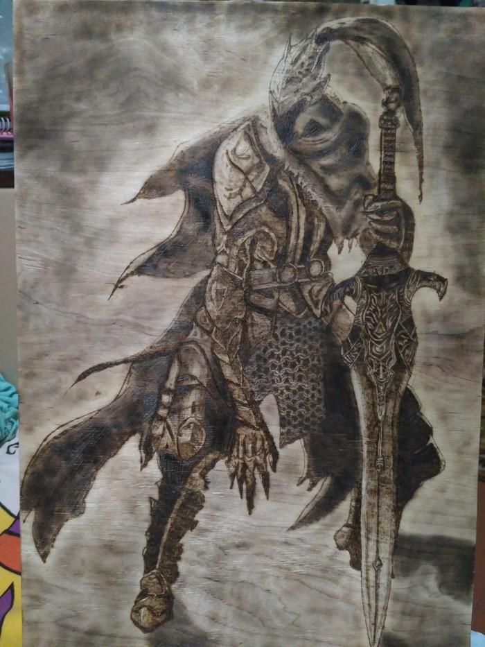 Artorias the Abysswalker Рукоделие без процесса, Выжигание, Пирография, Арториас