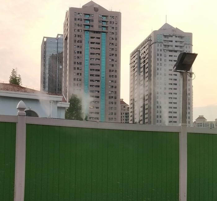 Очиститель воздуха на стройке в Китае Китай, Мелочи жизни, Сервис, Строительство, Очиститель воздуха