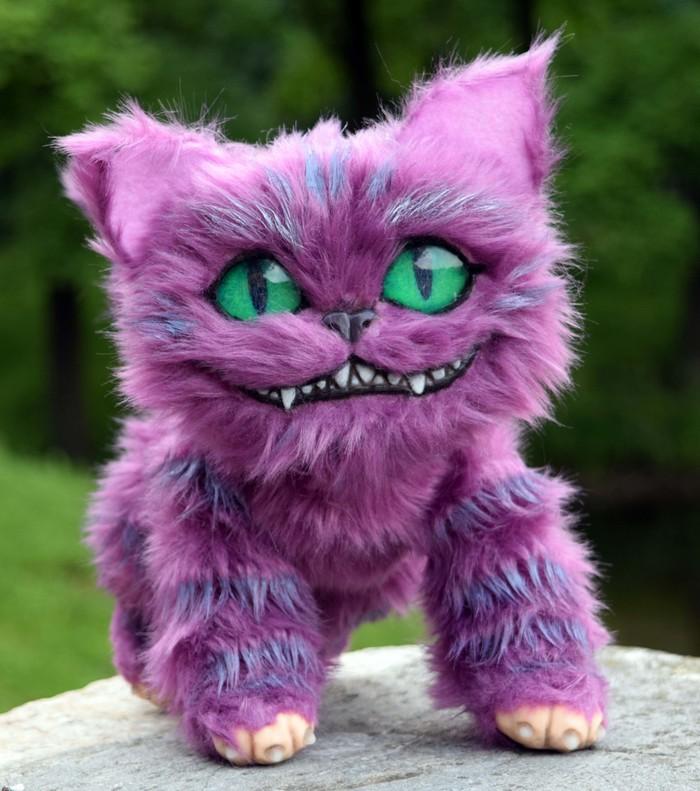 Чеширский кот Чеширский кот, Кот, Мягкая игрушка, Авторская игрушка, Handmade, Алиса в стране чудес, Авторская работа, Мех, Длиннопост