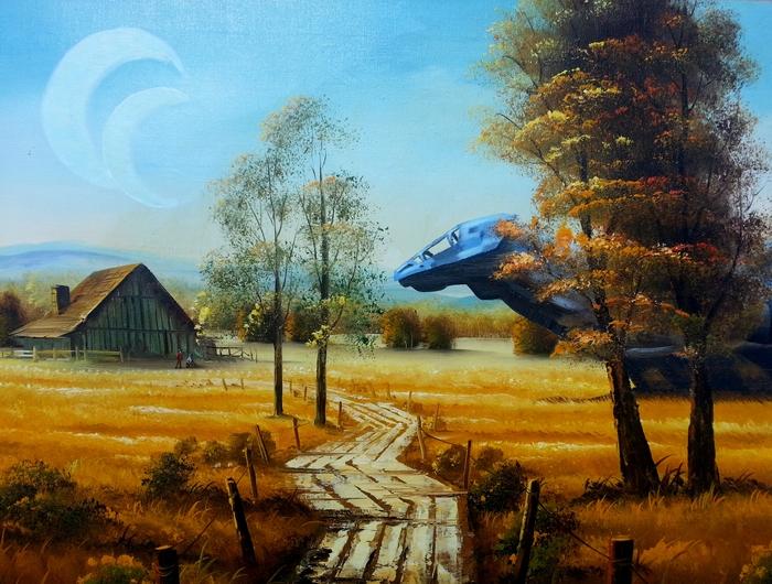 Периферийные планеты имеют свой шарм Светлячок, Serenity, Арт, Картина, Sci-Fi