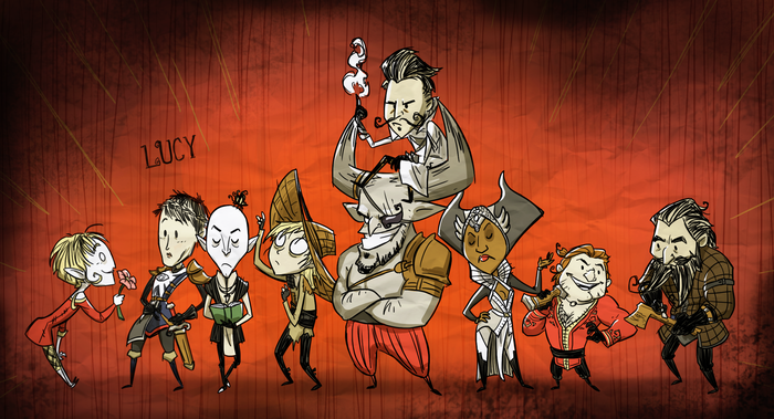 Персонажи Инквизиции в стиле Don't Starve Dragon age, Dragon Age Inquisition, Alltogether, Crossover, Dont Starve, Длиннопост, Игры, Арт