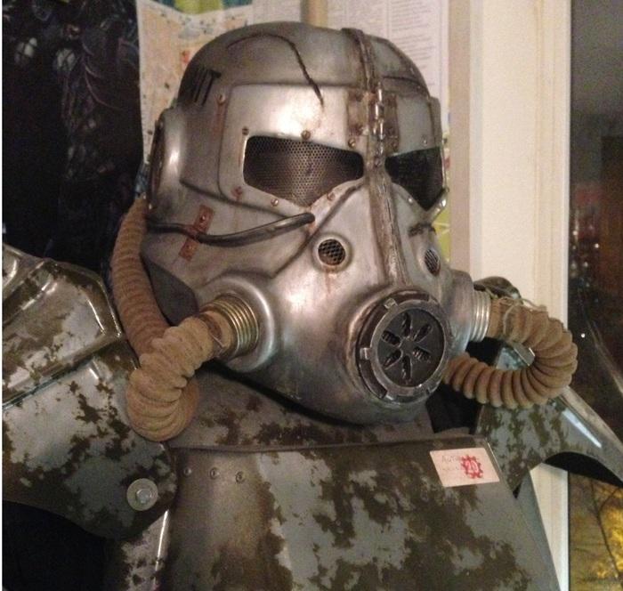 Страйкбольный шлем Т45d Крафт, Fallout, Длиннопост, Ролевые игры живого действия, Страйкбол, Постапокалипсис, Своими руками