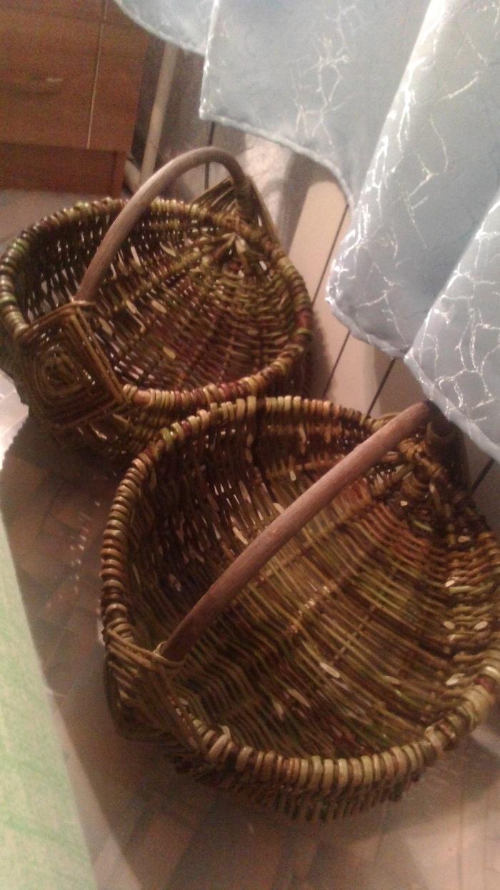 Плетём из ивовых прутьев. Белорусская корзина. 3 часть. Плетение из прутьев, Лозоплетение, Корзина, Длиннопост
