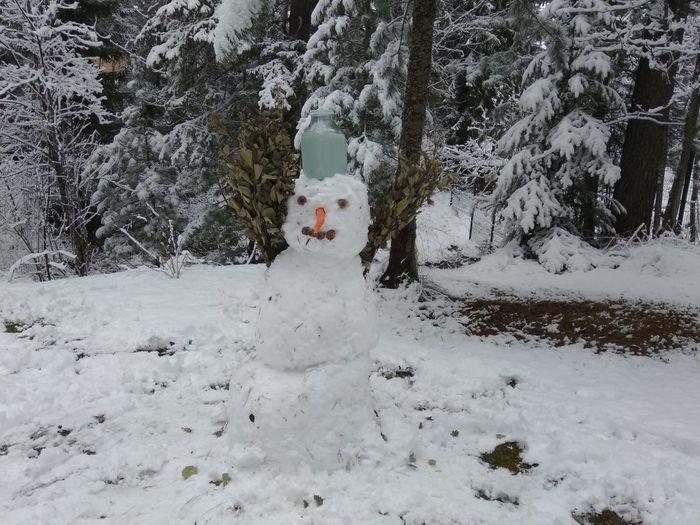 Майский снеговик
