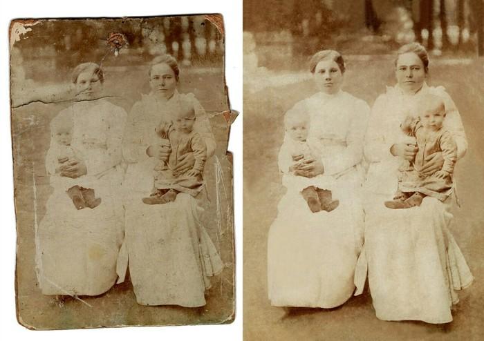 Ещё немного про старые фотки.. Ретушь, Реставрация, Колоризация, Длиннопост