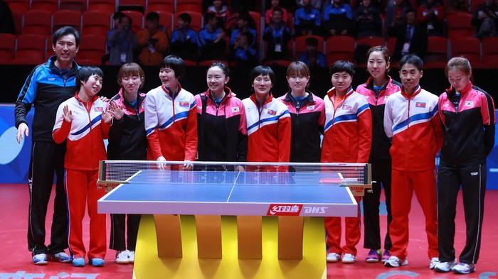 Северная и Южная Корея объединились на чемпионате мира по настольному теннису Спорт, Настольный теннис, Корея, Северная корея, Южная корея