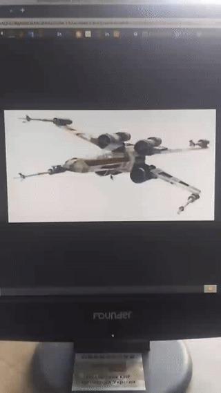 Бумажный x-wing Гифка, Оригами, x-Wing, Star wars