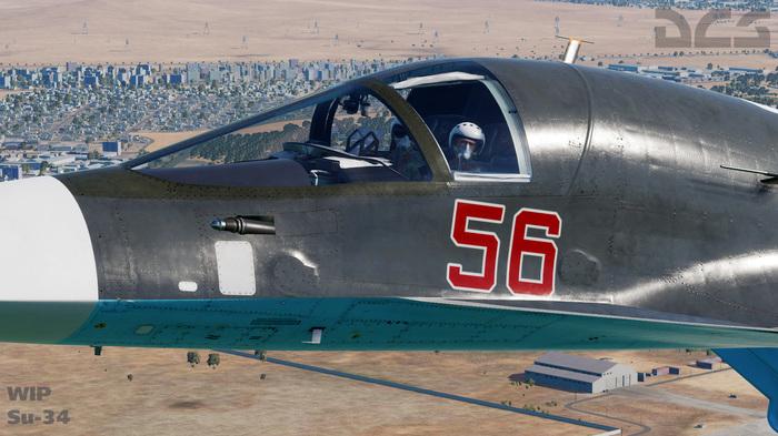 Обновленная 3D модель Су-34 для DCS World In Development, DCS, Су-34, Fullback, Авиасимулятор, Длиннопост