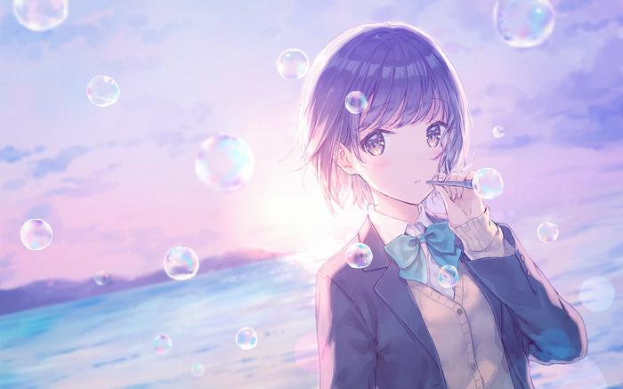 Пузыри Аниме, Арт, Anime Art, Anime Original