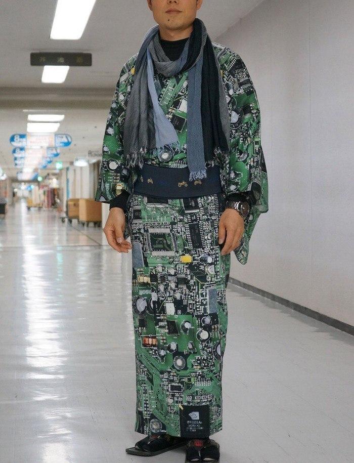 Весь покрытый схемами, абсолютно весь..... Япония, Необычная одежда, Токио, 2018, Длиннопост