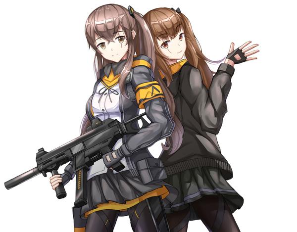 Сестры UMP Аниме, Не аниме, Anime Art, Girls frontline, Ump45, Ump9