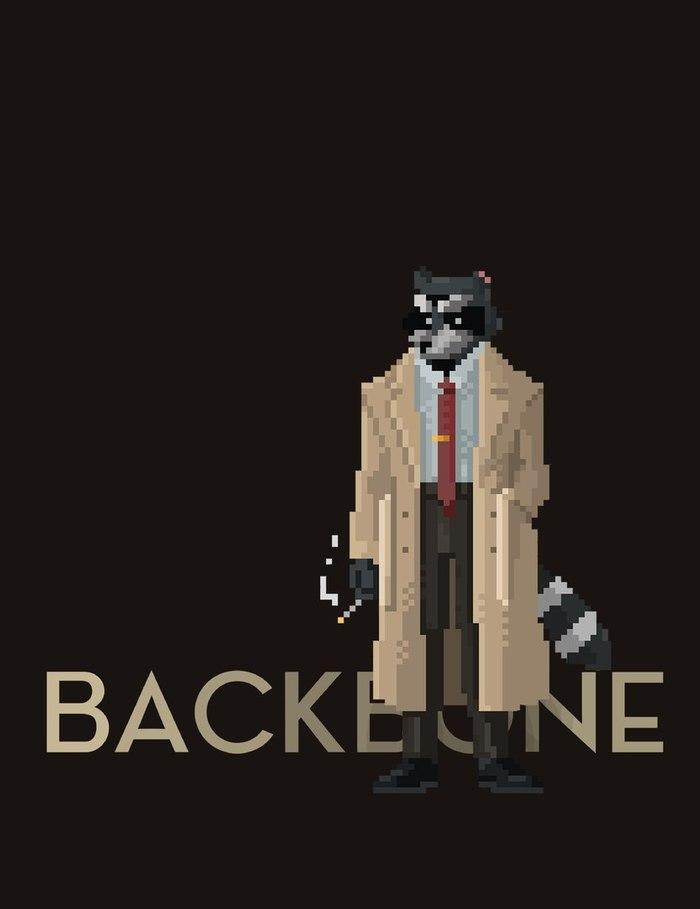 Енот, бегущий по лезвию: беседа с авторами игры Backbone Игры, Пиксель, Backbone, Длиннопост