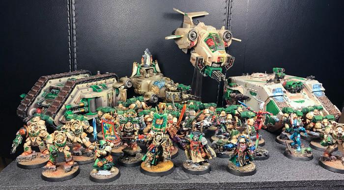 Warhammer 40000: Ангелы Безмятежности 02 (художники) Games Workshop, Warhammer 40k, Angelsofserenity, Коллекция, WH Miniatures, Длиннопост
