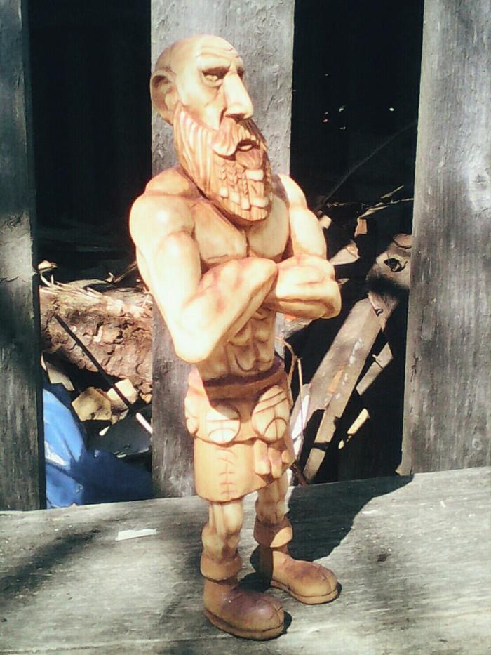 Вот такой ДВОРФ, материал осина, высота 25см. Дворфы, Резьба по дереву, Творчество, Резьба, Скульптура, Фэнтези, Гномы, Длиннопост