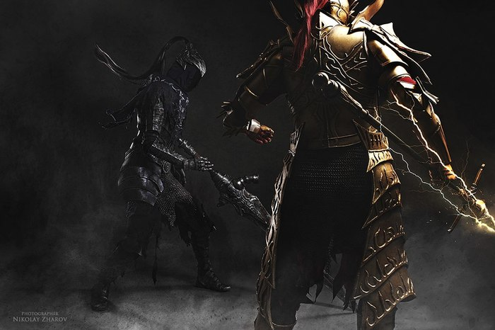 Dark Souls, Artorias&Ornstein cosplay Dark souls, Knight Artorias, Dragon Slayer Ornstein, Косплей, Длиннопост