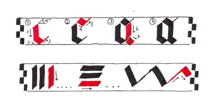 Как научиться каллиграфии. Часть 1. Каллиграфия, Арт, Искусство, Тушь, Callygraphy, Gothic, Длиннопост