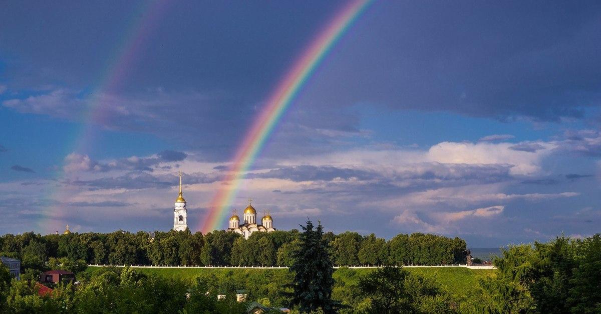 празднику красивые картинки с церквями и радугой была