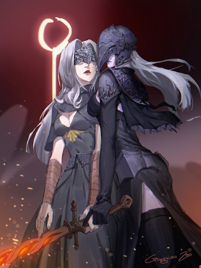 Начало Эры Тьмы Dark souls, Dark Souls 3, Fire Keeper, Yuria of Londor, Fromsoftware