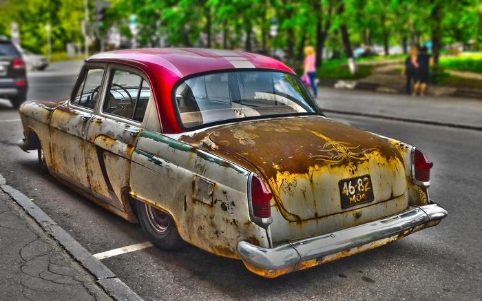 Ржавейка Ratrod, Ржавчина, Тюнинг, Авто, Подвеска, Заниженный газ, Photoshop, Волга 21