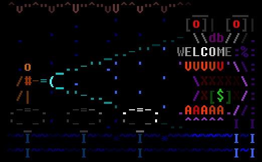 Текстовая консоль в киберпанк-мир Рассказ, Научная фантастика, Киберпанк, Ascii, Комиксы, Geektimes, Гифка, Длиннопост