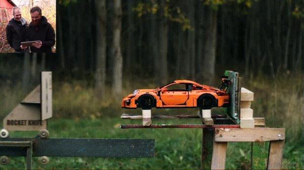 Краш-тест Lego 42056 Porsche 911 GT3 RS LEGO, Porsche, 42056, Краш-Тест, LEGO technic, Гифка, Видео