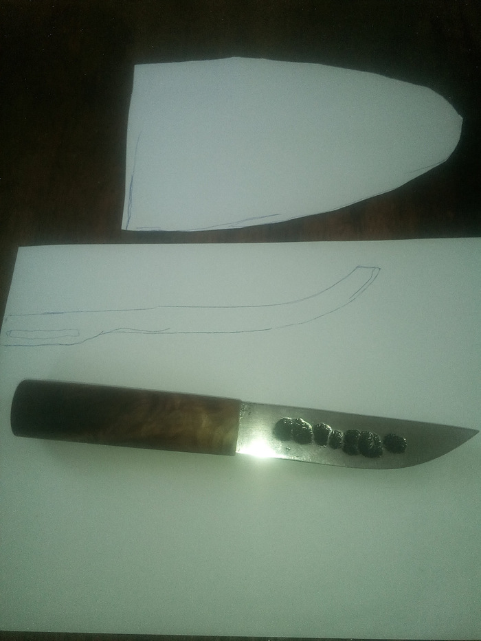 "Нож ""Якут"" из подшипника нож, ножны, drive2, длиннопост, сделай сам"