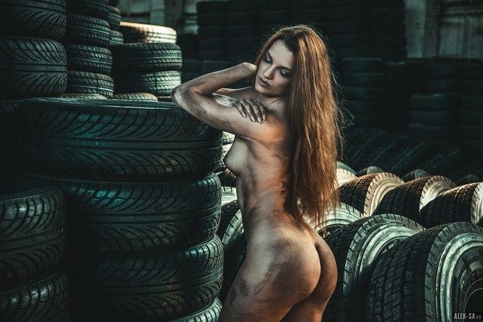 Будни сурового сибирского шиномонтажа. Эротика, Красивая девушка, Лиана Клевцова, Длиннопост