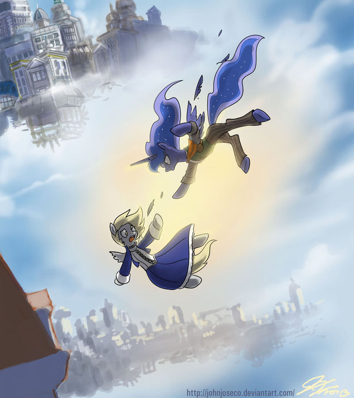 The Possibilties are Endless... My little pony, Bioshock infinite, Crossover, Princess luna, Derpy Hooves