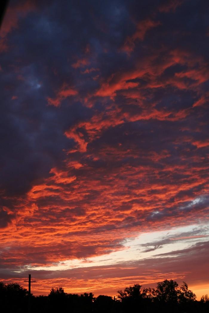 Кровавый закат Закат, Фотография