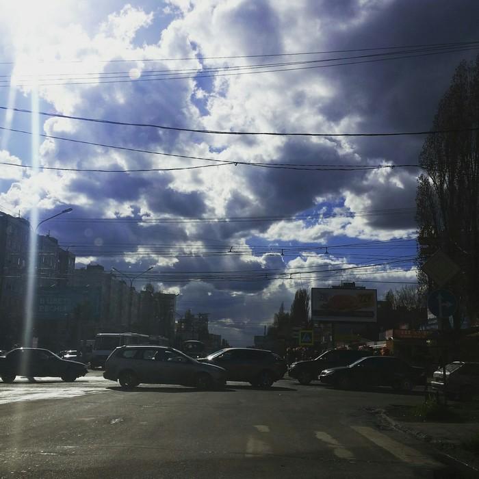 Сказочно красиво!!! Небо, Облака, Воронеж, Светофор, Красота