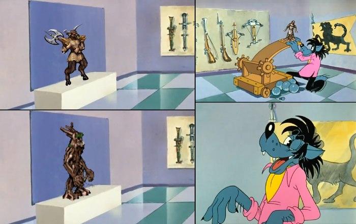Короли минотавров превращаются... HOMM III, Геройский юмор, Ну погоди!, Минотавр, Дендроид, Комиксы