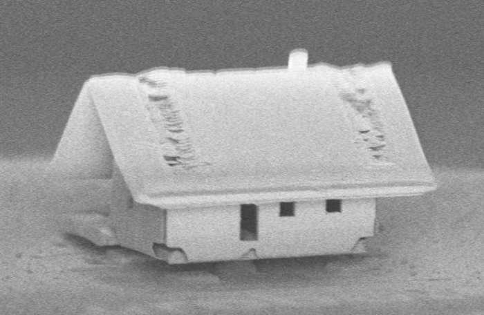 Самый маленький дом на свете Электронный микроскоп, Дом, Микроскоп, Размер, Нанотехнологии, Физика