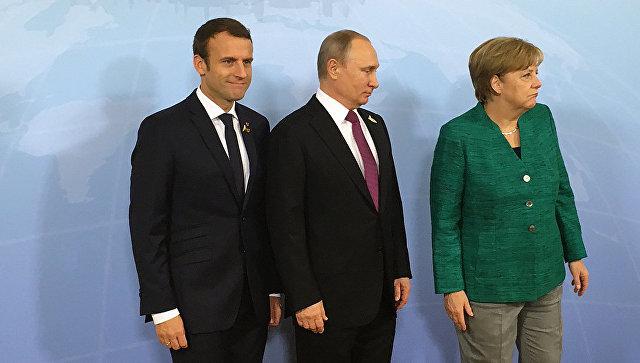 """Макрону и Меркель предложили создать """"нефтеевро"""". Без Москвы не обойтись Россия, Евросоюз, Доллар, Евро, Нефть, Политика, Экономика, Длиннопост"""