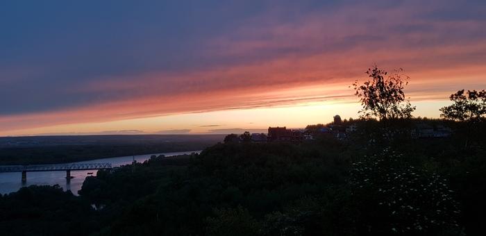 Закат в Уфе