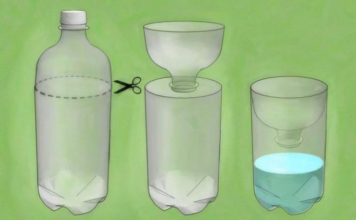 Простая и эффективная ловушка для мух. Приманка для насекомых, пластиковые бутылки