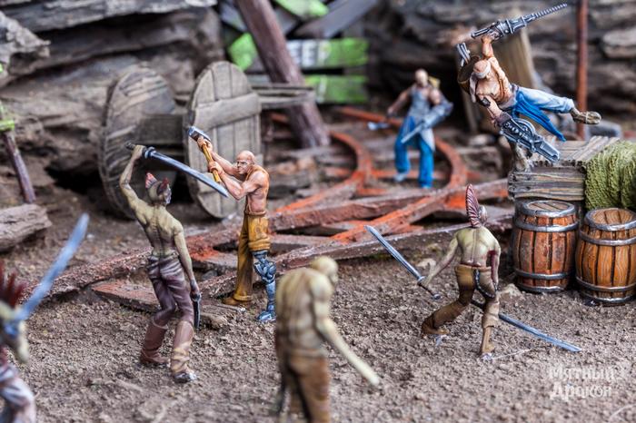 Зомби против шахтеров Миниатюра, Солдатики, Настольные игры, Игры, Зомби, Диорама, Настолки, Длиннопост
