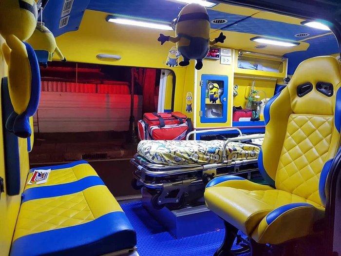 Тайваньский автомобиль Скорой помощи, оформленный в стиле Миньонов Скорая помощь, Миньоны, Тайвань, Из сети, Длиннопост