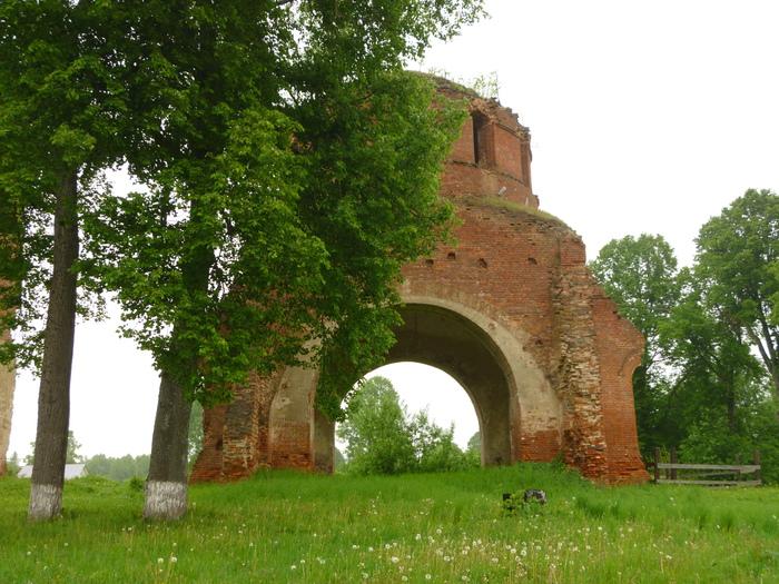 Остатки церкви Длиннопост, Разрушенные церкви, Развалины, Калужская область, Церковь, Руины