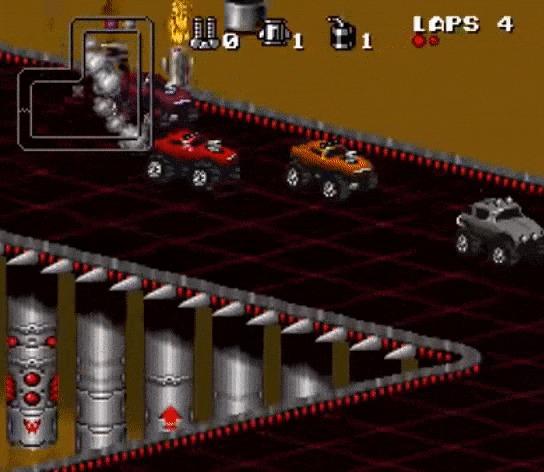 Ретро-обзор культовой Rock n' Roll Racing Игры, Ретро, Sega, Гонки, Обзор, Ностальгия, Назад в 90е, Детство, Гифка, Длиннопост