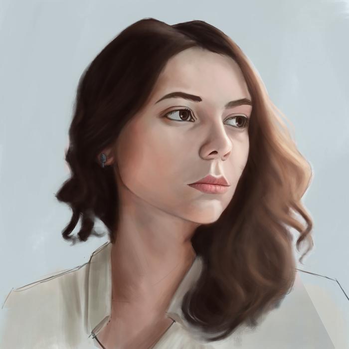 Ещё несколько портретов Арт, Портрет, Рисунок, Длиннопост, Цифровой рисунок, Девушки