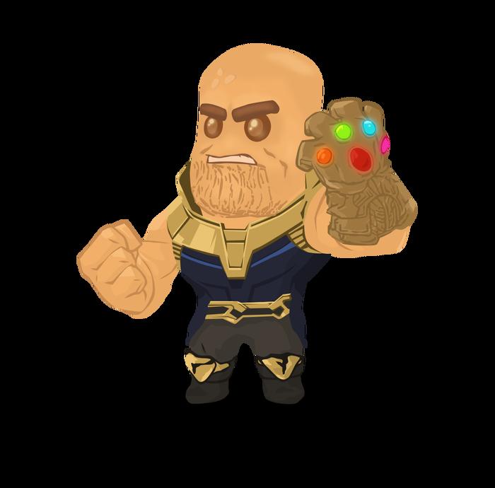 Печенька Танос. Рисунок, Арт, Печенька, Marvel, Комиксы, Танос, Мстители, Мстители: Война бесконечности