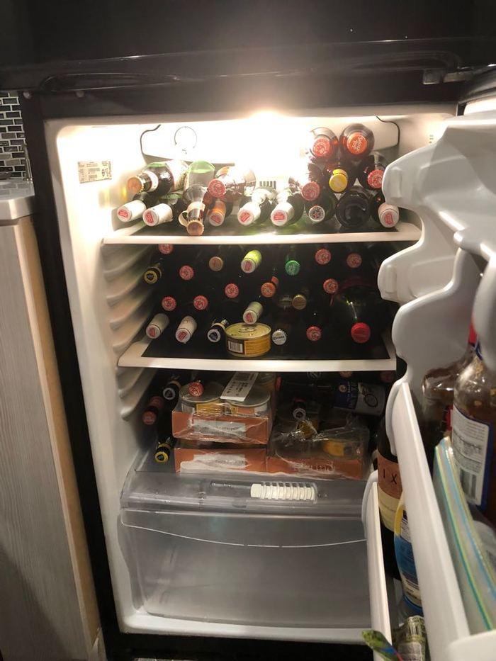 Вместо тысячи слов .. Смешное фото, Холостяк, Пиво, Холодильник