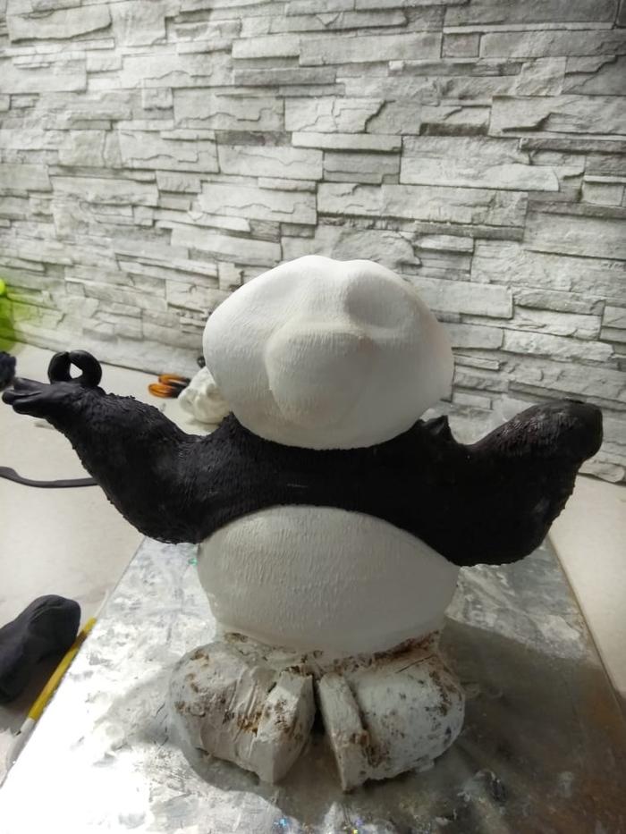 Торт Панда длиннопост, торт, торты на заказ, панда, Кунг-фу Панда, работа