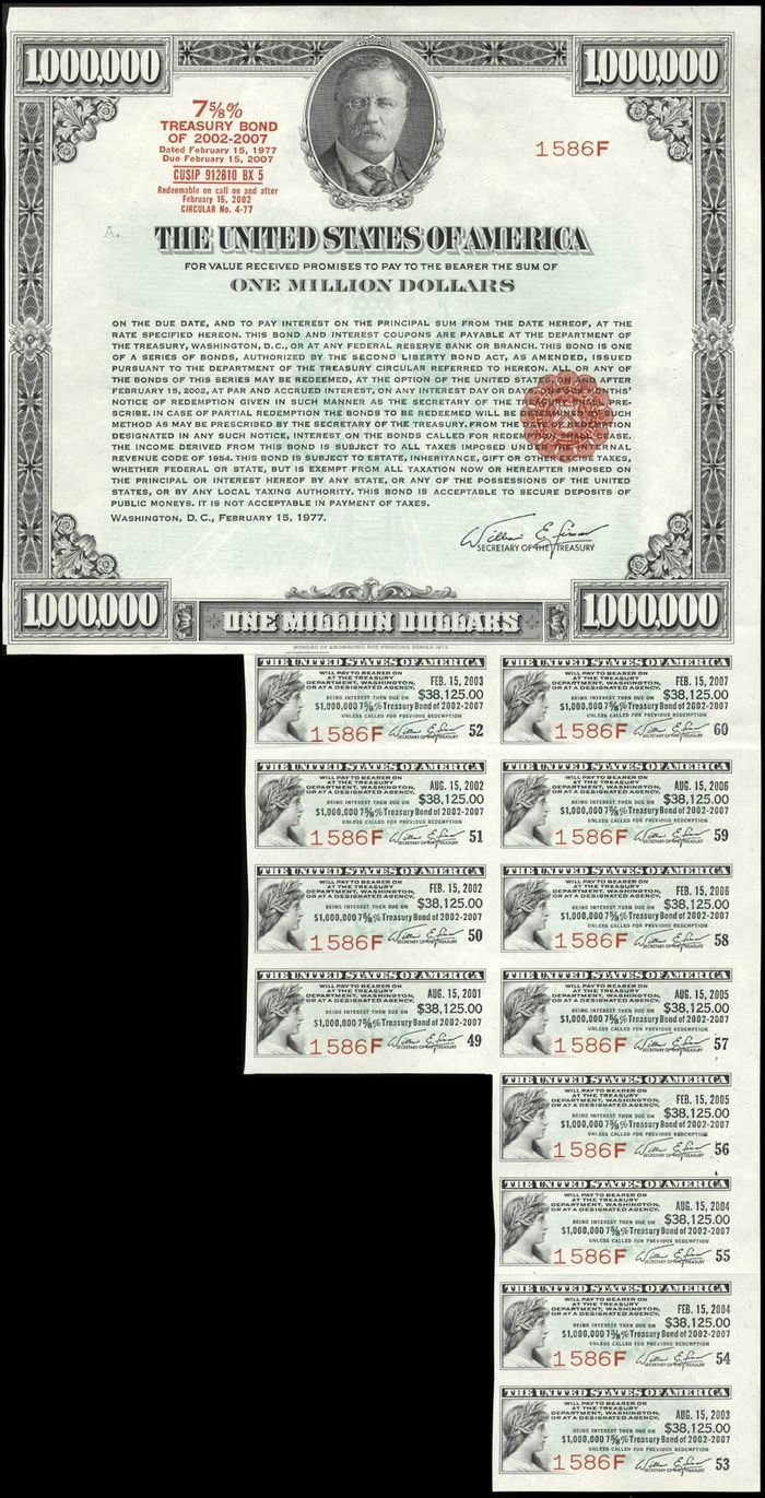 Миллион долларов одной бумажкой Бонистика, Облигация, Длиннопост
